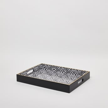 Printed Serving Tray with Cutout Handles - 40x30 cms