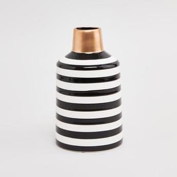 Striped Ceramic Vase - 12 cms