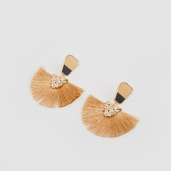 Fringe Detail Earrings with Push Back Closure