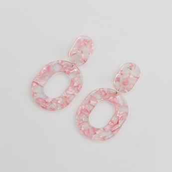 Patterned Dangling Earrings with Pushback Closure