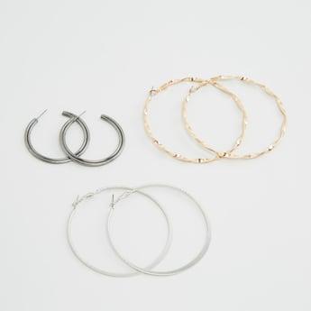 Set of 3 - Hoop Earrings