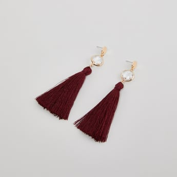 Tassel Detail Danglers with Pushback Closure