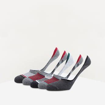 جوارب غير مرئية متعددة الالوان بحوّاف مطّاطية - طقم من 5 أزواج
