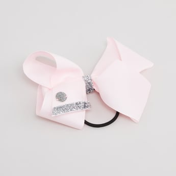 Hair Tie with Embellished Bow Applique
