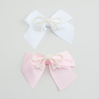 Set of 2 - Hair Clip with Pearl Accent