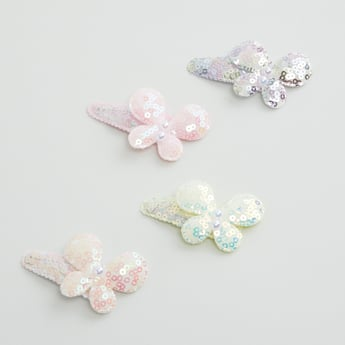 Set of 4 - Sequin Detail Hair Clips