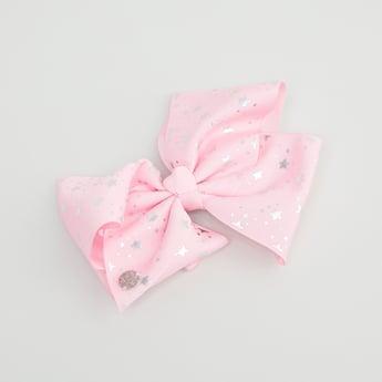Star Print Bow Hair Clip
