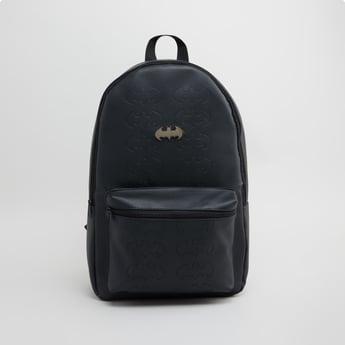 Batman Textured Backpack with Zip Closure