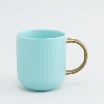 Patterned Mug with Curved Handle