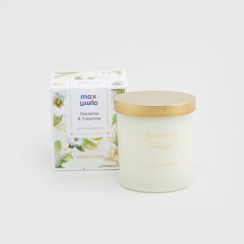 Gardenia and Tuberose Scented Jar Candle