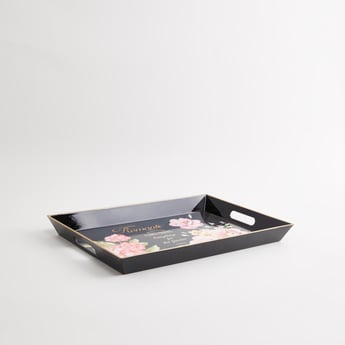 Floral Printed Rectangular Serving Tray - 45x31x4 cms