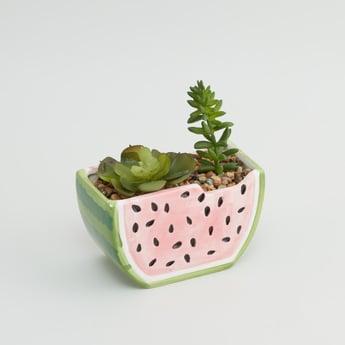 نبات اصطناعي زينة في إناء زرع - 13x9x14 سم