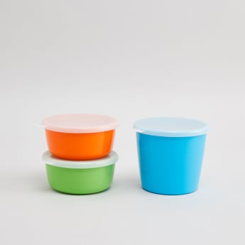 Set of 3 - Plain Containers with Lid