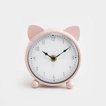 Applique Detail Round Table Clock