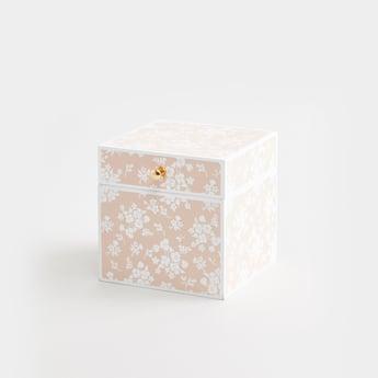 صندوق بطبعات زهرية - 9x9x10 سم