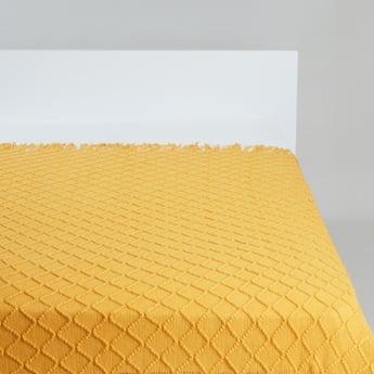 بطانية خفيفة مطرزة بأنماط هندسية -152 127 سم