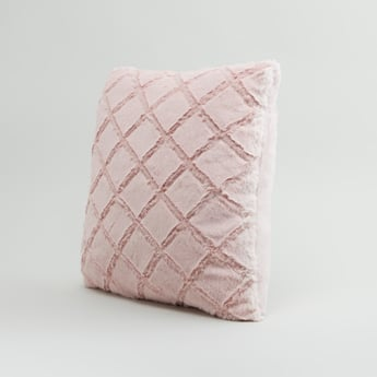Textured Square Filled Cushion with Zip Closure - 220x45 cms