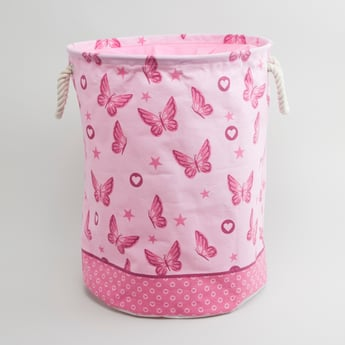 Butterfly Printed Laundry Hamper - 49x38 cms