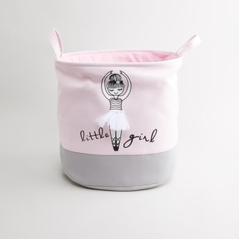 Printed Laundry Hamper with Handles - 49x38 cms