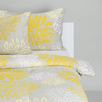 Printed Duvet Cover with 2 Pillow Cases Set - 220x200 cms