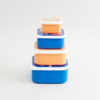 حاويات بطبعات- طقم من 4 قطع