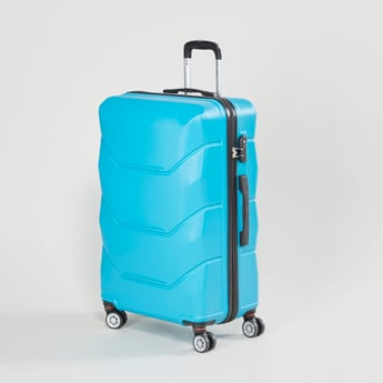 Textured Hard Case Luggage with Retractable Handle - 47x30x69 cms