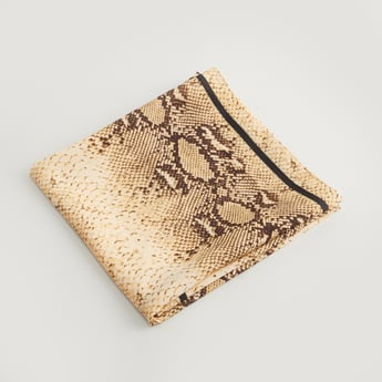 Printed Square Scarf with Knot Detail