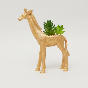 Giraffe Shaped Potted Plant