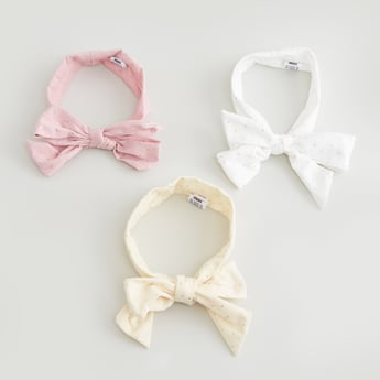Set of 3 - Plain Headbands with Bow Detail
