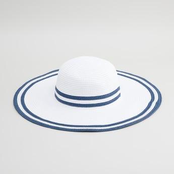 Striped Wide Brimmed Hat