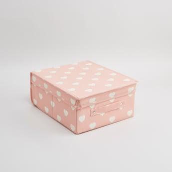 صندوق تخزين قابل للطي بطبعات - 33x28x15 سم