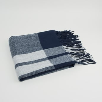 Striped Scarf with Fringe Detail