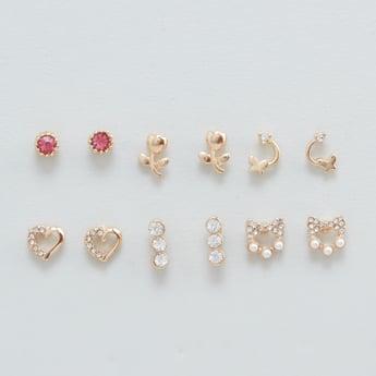 Set of 6 - Assorted Stud Earrings