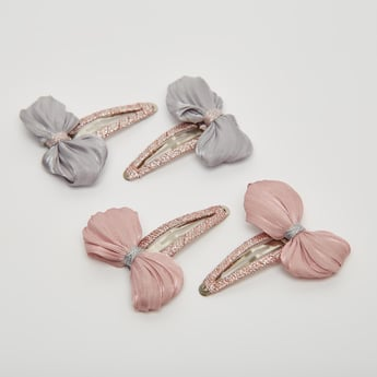 Set of 4 - Bow Detailed Hair Clip