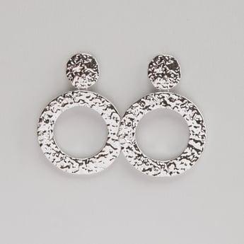 Engraved Circular Drop Earrings