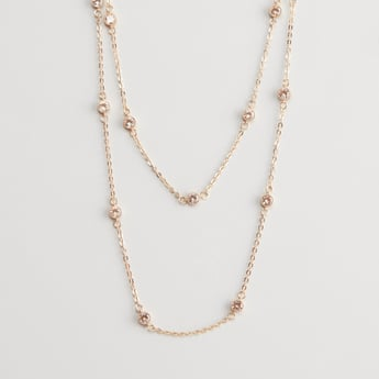 2-Layer Embellished Necklace