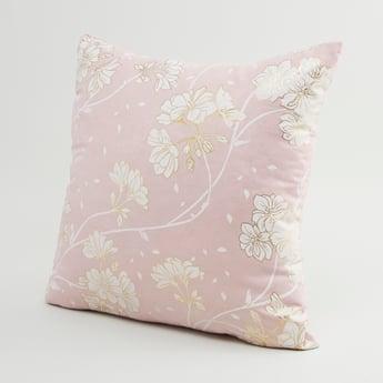وسادة محشوة بطبعات أزهار-45x45 سم