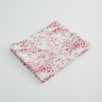 Floral Printed Scarf with Fringe Detail