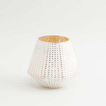 Textured Glass Candle Holder- 12x12 cms