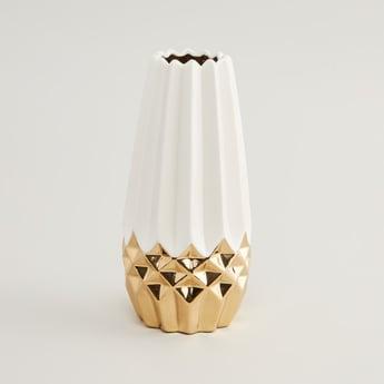 Patterned Ceramic Vase - 9.5x9.5x20.7 cms