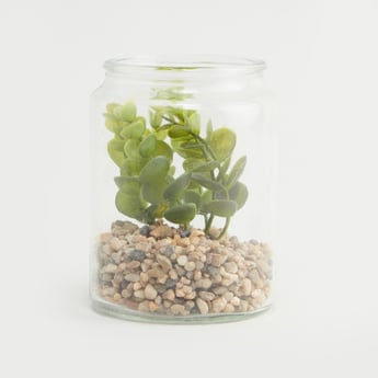 Artificial Plant with Jar