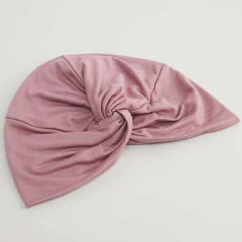 Plain Turban Cap with Knot Detail