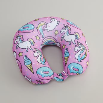 Unicorn Print Neck Pillow