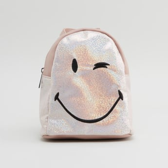 Embroidered Backpack with Adjustable Straps and Top Handle