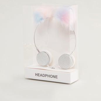 Headphones with Pom Poms