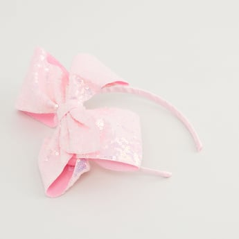 Bow and Sequin Detail Hair Band