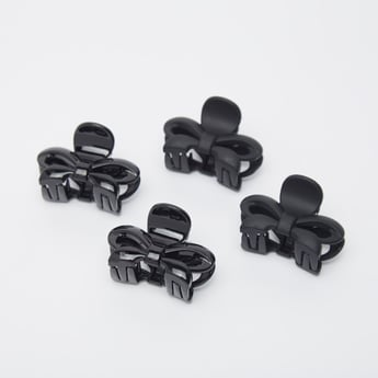 Set of 4 - Bow-Shaped Hair Clamps