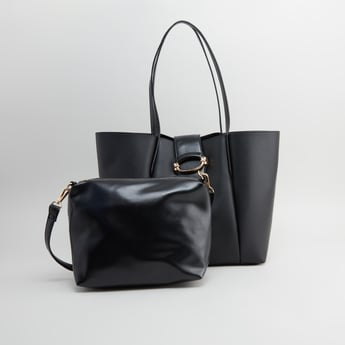 Tote and Crossbody Bag with Detachable Strap