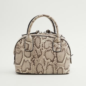 Animal Printed Crossbody Bag with Zip Closure