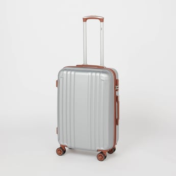 Textured Hard Case Trolley Bag with Retractable Handle and Caster Wheels